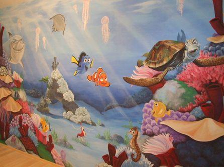 Malování na zeď temperami